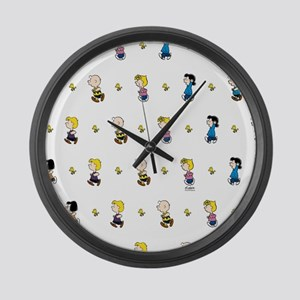 Peanuts Gang Collage White Large Wall Clock