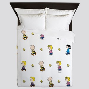 Peanuts Gang Collage White Queen Duvet