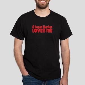 A Fossil Hunter Loves Me Dark T-Shirt