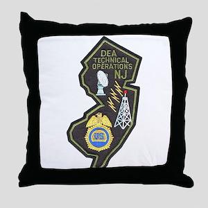 DEA NJ Techops Throw Pillow