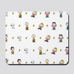 Peanuts Gang Collage White Mousepad