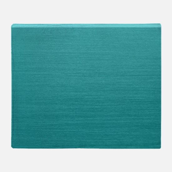 Brushed Teal Throw Blanket