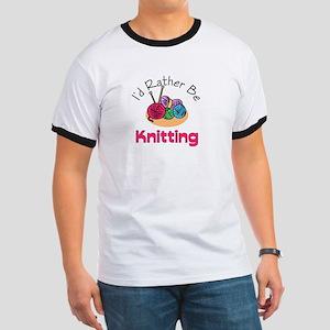 I'd Rather Be Knitting Ringer T