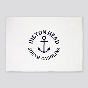 Summer hilton head- south carolina 5'x7'Area Rug