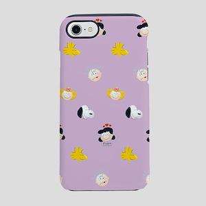 Peanuts Gang Emoji Purple iPhone 8/7 Tough Case