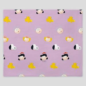 Peanuts Gang Emoji Purple King Duvet