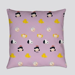 Peanuts Gang Emoji Purple Everyday Pillow