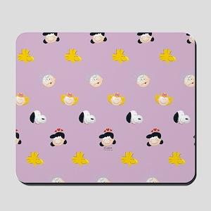 Peanuts Gang Emoji Purple Mousepad