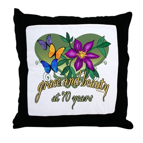 Beautiful 70th Throw Pillow