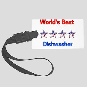 World's Best Dishwasher Large Luggage Tag