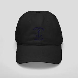 Summer virginia beach- virgin Black Cap with Patch