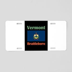 Brattleboro Vermont Aluminum License Plate
