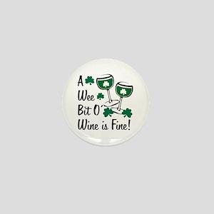 Wee Bit O' Wine Mini Button