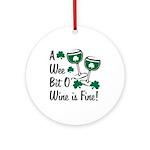 Wee Bit O' Wine Ornament (Round)