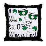 Wee Bit O' Wine Throw Pillow