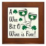 Wee Bit O' Wine Framed Tile