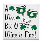 Wee Bit O' Wine Tile Coaster