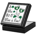 Wee Bit O' Wine Keepsake Box