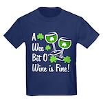 Wee Bit O' Wine Kids Dark T-Shirt