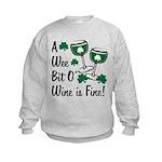 Wee Bit O' Wine Kids Sweatshirt