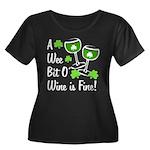 Wee Bit O' Wine Women's Plus Size Scoop Neck Dark