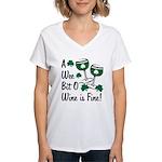 Wee Bit O' Wine Women's V-Neck T-Shirt
