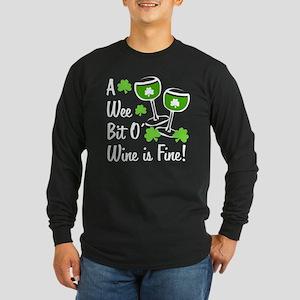Wee Bit O' Wine Long Sleeve Dark T-Shirt