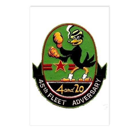 45th Fleet Adversary Postcards (Package of 8)