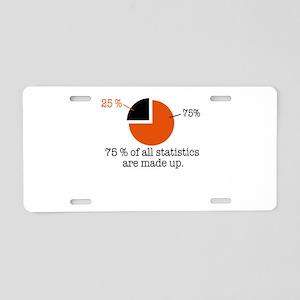 statistics Aluminum License Plate
