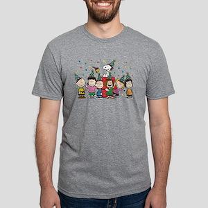 Peanuts Gang Birthday Mens Tri-blend T-Shirt