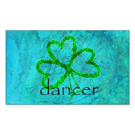 Shamrock Dancer Rectangle Sticker