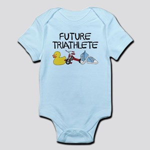 Future Triathlete Baby Light Bodysuit