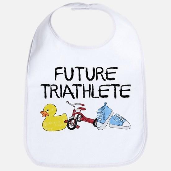Future Triathlete Cotton Baby Bib
