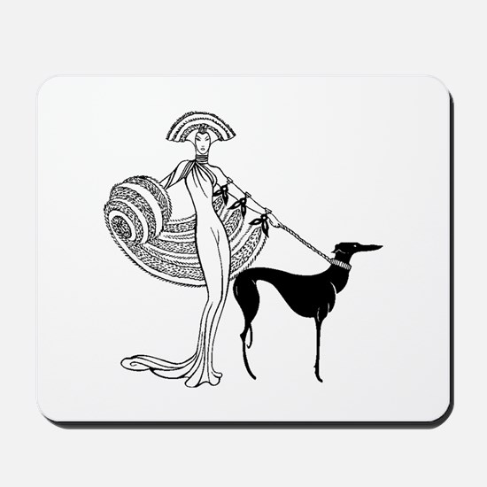 Art Deco Woman Mousepad