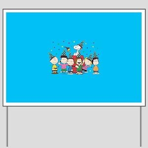 Peanuts Gang Birthday Yard Sign