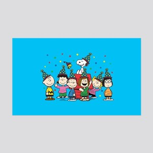 Peanuts Gang Birthday 35x21 Wall Decal