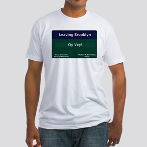 Leaving Brooklyn Fitted T-Shirt