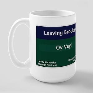 Leaving Brooklyn Large Mug