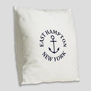 Summer East Hampton- New York Burlap Throw Pillow