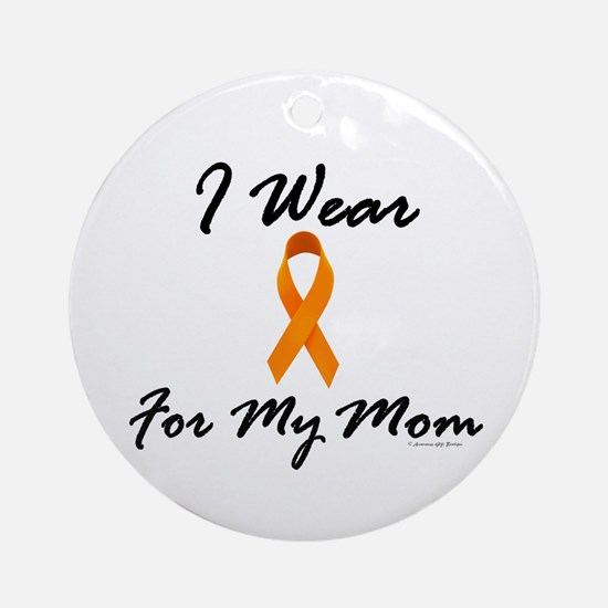 I Wear Orange For My Mom 1 Ornament (Round)