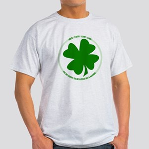 Lucky to be Loved (Marine) Light T-Shirt