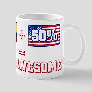 50% Columbian 50% American 11 oz Ceramic Mug