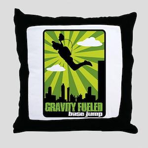 Base Jumping Throw Pillow