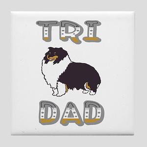 Tri Dad Tile Coaster