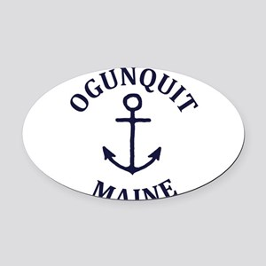 Summer ogunquit- maine Oval Car Magnet