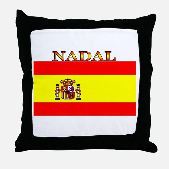 Nadal Spain Spanish Flag Throw Pillow