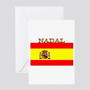 Nadal Spain Spanish Flag Greeting Card