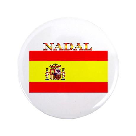 "Nadal Spain Spanish Flag 3.5"" Button (100 pack)"