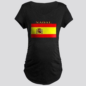 Nadal Spain Spanish Flag Maternity Dark T-Shirt