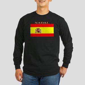 Nadal Spain Spanish Flag Long Sleeve Dark T-Shirt